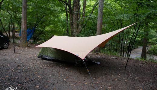 キャンプ初心者がムササビウイングの小川張りに挑戦してみた