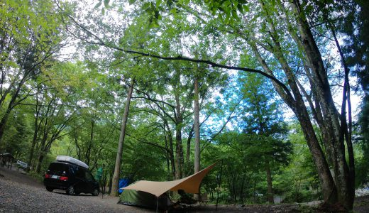 【ソロキャンプ】キャンプ初心者が雨の道志の森キャンプ場へ行ってみた