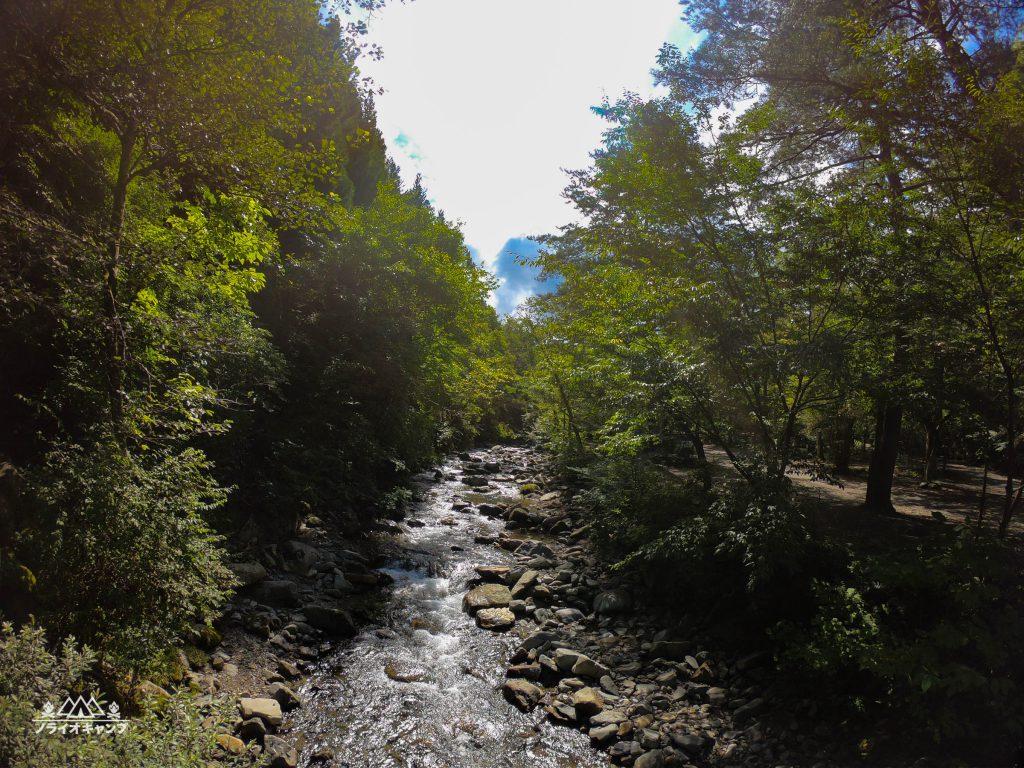 道志の森キャンプ場の川